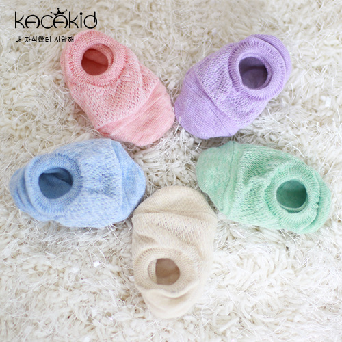 Candy Color Newborn Toddler Infant Baby Summer Sandle Hollow Anti slip Spft Sole Cotton Casual Socks