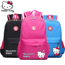 Hello Kitty Bag Cute Children's Cartoon Fashion Baby KT Pink Multifunctional Backpack Waterproof Girl Schoolbag Shoulder Plush hello kitty plush toys for children pink veil kt doll baby gifts
