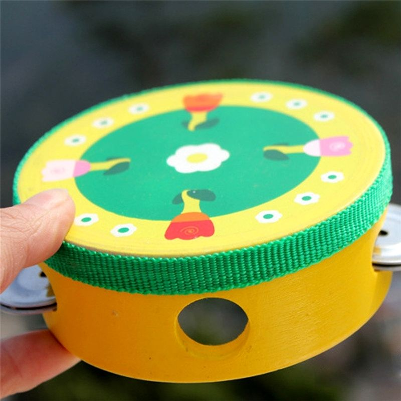 Baby Kids Musical Tambourine Beat Instrument Educational Handbell Clap Drum Toy High Quality Materials Baby Rattles & Mobiles Toys & Hobbies