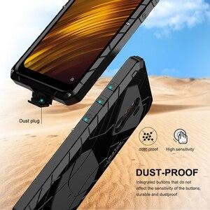 Image 4 - 샤오미 mi Pocophone F1 X2 전화 케이스 Hard Alu mi num 샤오미 9 9T 9T Pro 용 금속 강화 유리 스크린 보호기 커버