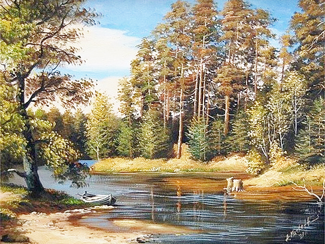 Needlework 5d Diy diamond embroidery Forest river diamond painting crystal rustic scenery 3d picture canvas stitch landscape