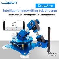 2018 новые 4DOF Алюминий DrawArm 3D интеллектуальные почерка Роботизированная рука LX 15D последовательная шина сервоприводы телефона Android/PAD приложе
