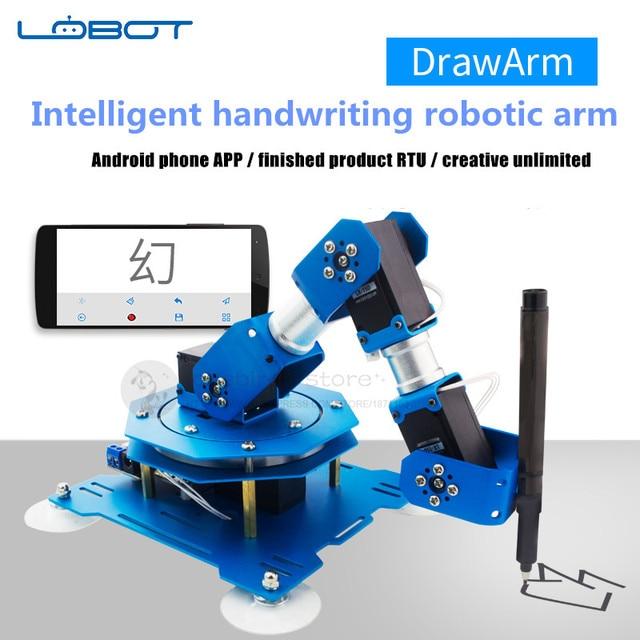 2018 newest 4DOF Aluminum DrawArm 3D intelligent handwriting robotic arm LX-15D Serial Bus Servos Android phone/PAD APP control