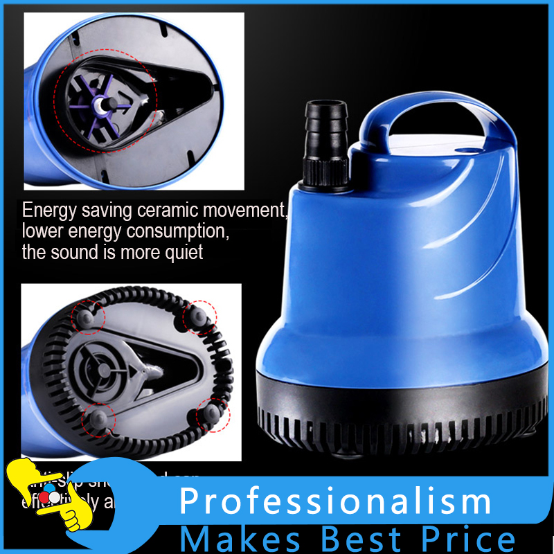 15W Vertical Suction Pump Submersible Pump Fish Tank Water Pump Ultra-quiet Small Pump mini electric brushless water pump dc12v 6m 500l h ultra quiet aquarium pump devices motor submersible pool water pump