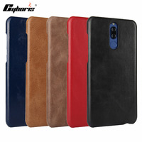 CYBORIS For Huawei Maimang 6 Mate 10 Lite Genuine Leather Phone Silm Frosted Protective Case For