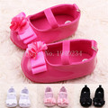 New Sweet Baby Newborn Shoes Kids Girls Anti-slip Flat Flower Shoes Princess First Walkers PU Leather Shoes 5BS26