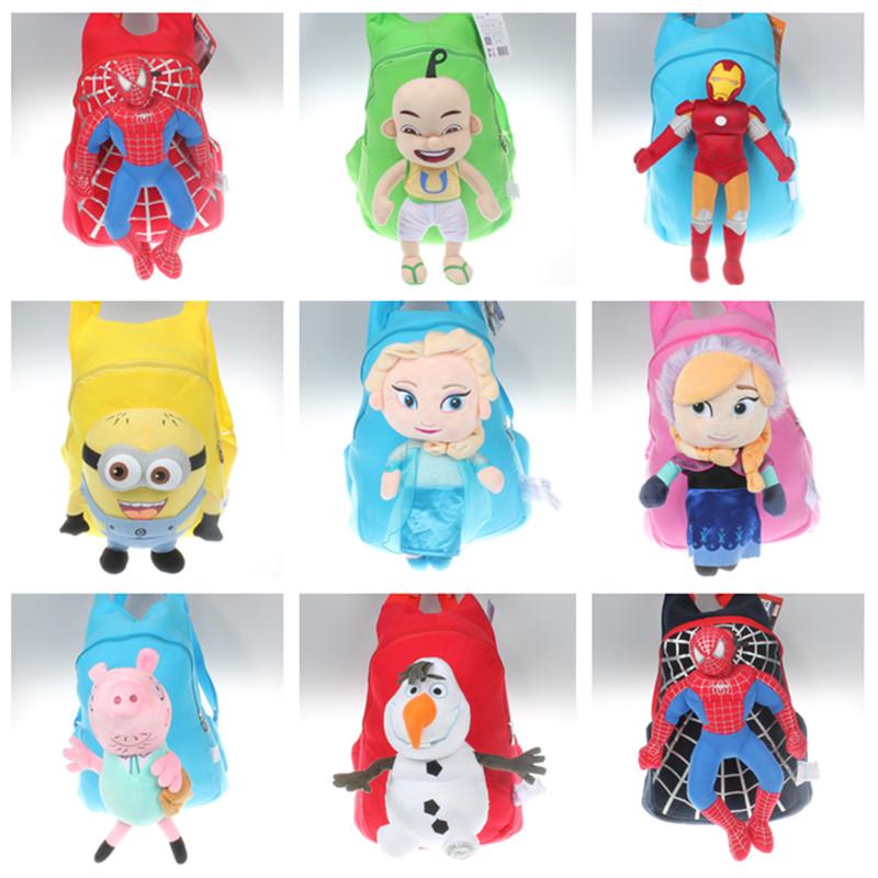 felpa de dibujos animados mochilas nios mochila del hombro del beb bolsa de jardn de infantes