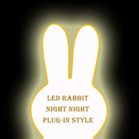 Height 80CM Rabbit Dimmable Led Night Light Lamp For Baby Kids Gift Animal Cartoon Bedroom Living Room Decorative