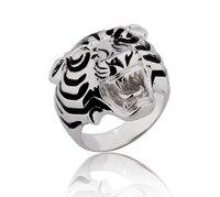 925 فضة مجوهرات ليوبارد النمر خاتم أزياء رجالية خواتم رياضي الرائدة الاستبداد الرجال المجوهرات