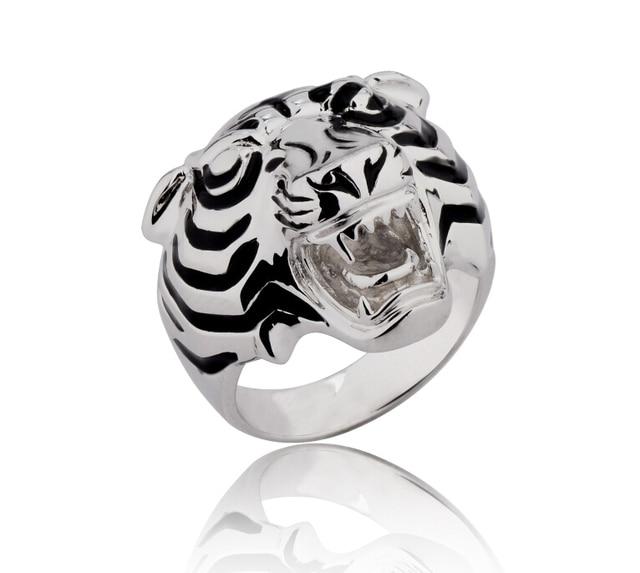 526231bed2cf3 925 prata esterlina anel anéis da forma dos homens por atacado de jóias  leopard panther liderando