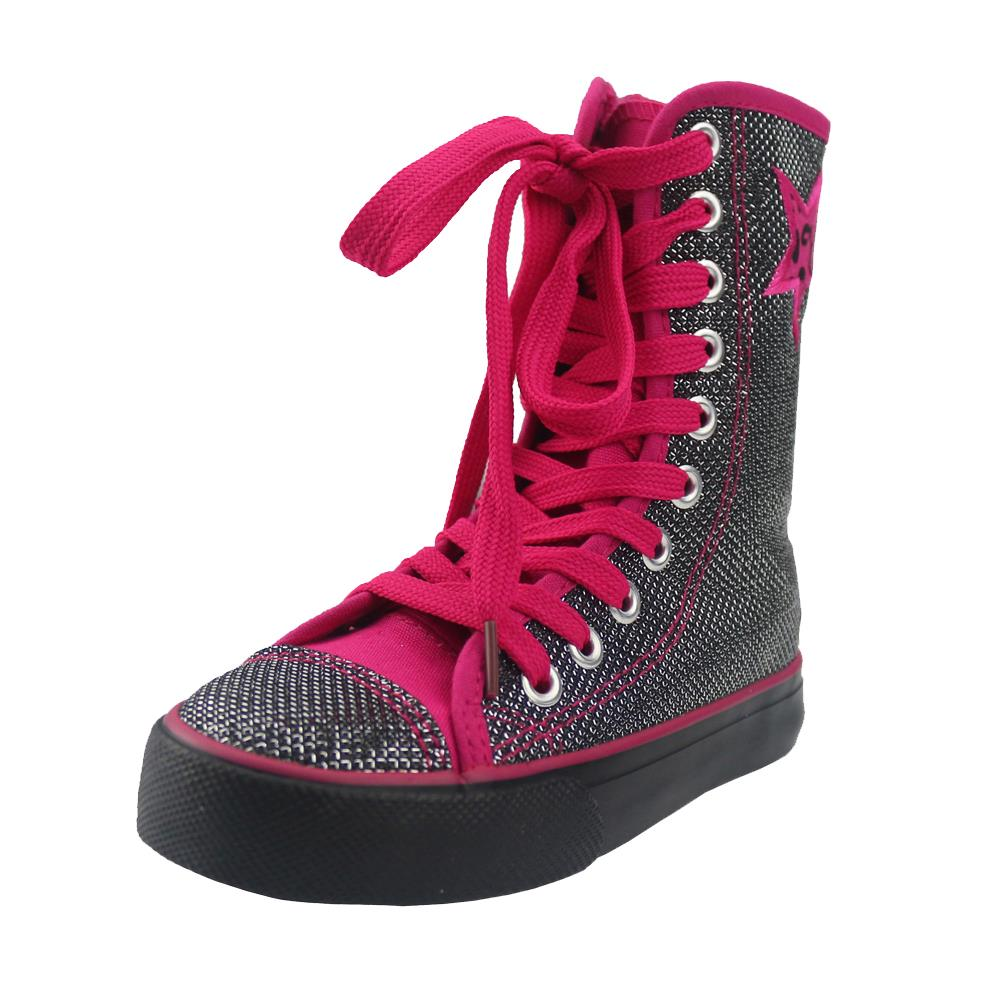Hot sale kids shoes girls shoes fashion sequins canvas shoes girls new  shiny leopard high top sneakers kids shoes for girl-in Sneakers from Mother    Kids on ... b4839b23b