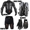 Motorcycle Racing Motorcross Riding Body Armor Protective Jacket Gears Short Pants Motorcycle Knee Protector Moto Gloves