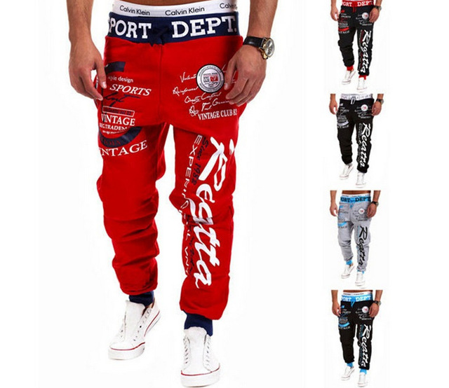 2016 Harajuku Fashion Letter Printing Men's Pants Baggy Harem Long Pants Clothing Sweatpants Hip-hop Trousers Plus Size