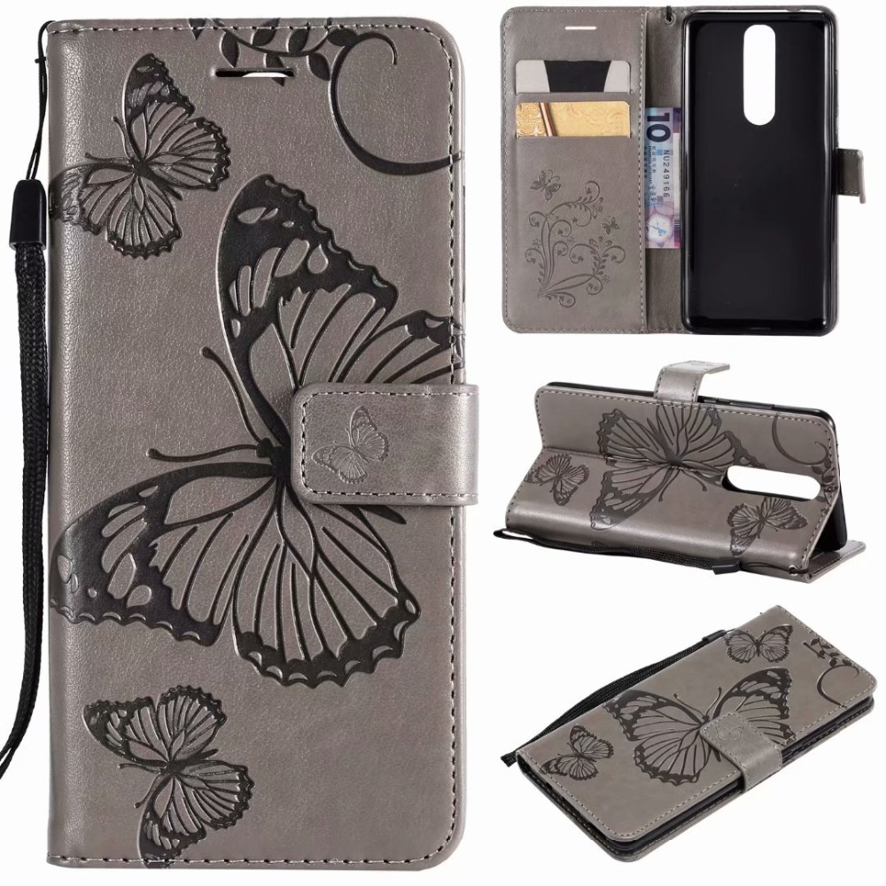 Fashion Wallet Cover <font><b>For</b></font> <font><b>Nokia</b></font> 5 2018 butterfly Flip Leather <font><b>Cases</b></font> <font><b>For</b></font> <font><b>Nokia</b></font> 5.1 <font><b>TA</b></font>-1061 <font><b>TA</b></font>-<font><b>1075</b></font> A-1076 <font><b>TA</b></font>-1081 <font><b>TA</b></font>-1088 image