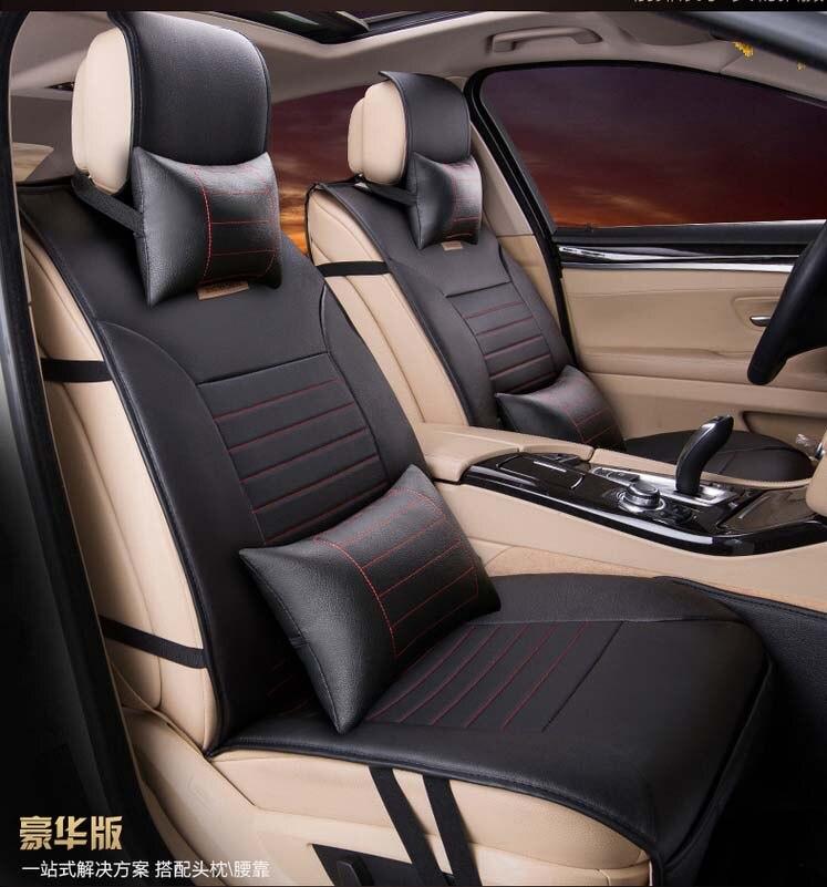 5 pièces/ensemble 2016 nouveauté quatre saisons style simple housse de siège de voiture coussin PU matériaux siège de voiture couvre confortable