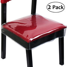 OULII 2pcs Chair Protectors Fits Chairs up to 16-21 Inch Furniture Chair Covers Transparent(China)