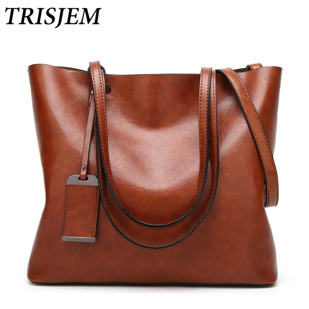 TRISJEM Luxury Designer Women Soft Leather Handbags Green Crossbody Bag Ladies Hand Totes Shoulder Bag Brown Sac a Main Femme women designer leather smiley trapeze handbag luxury lady smiling face purse shoulder bag girl crossbody bag sac femme neverfull
