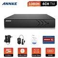 1080n annke 4ch 4 em 1 hd 720 p hdmi dvr gravador de vídeo para o sistema de câmera de segurança em casa