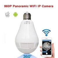 Bulb Light Wireless IP Camera Wi Fi FishEye 960P 360 Degree Panoramic Mini VR Camera 1