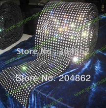 10yards 18 rows Black Plastic base crystal rhinestone mesh trim with SS16  4mm clear stones For DIY Costume accessories 069d2cd16bc1
