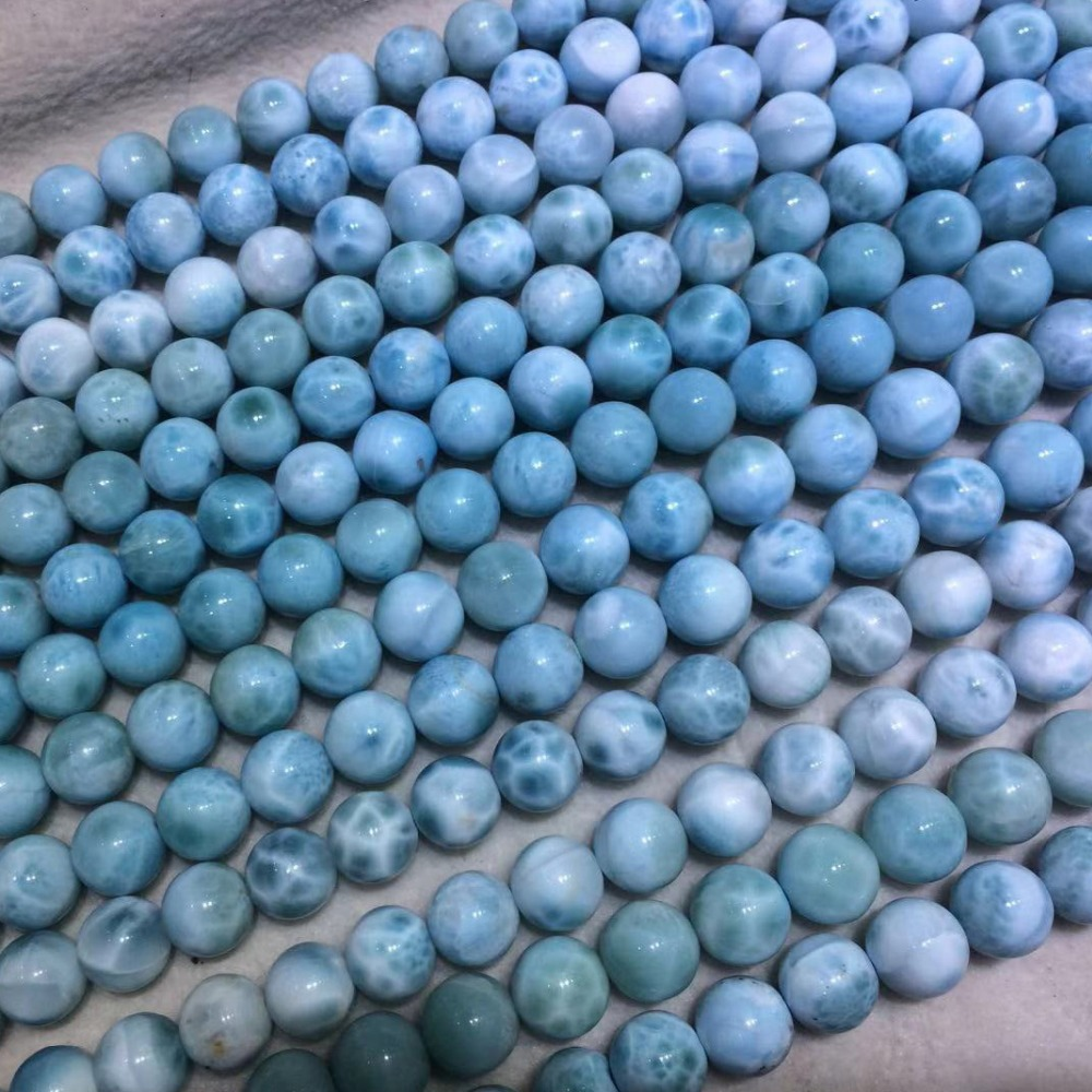 Natural larimar Copper Pectolite beads spacer stone beads DIY loose beads for jewelry making strand 15