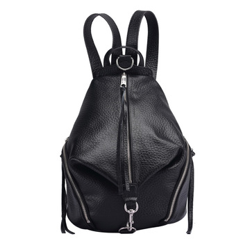 Rm8907 New Fashion Vertical Square Top layer Leather backpack Lady Cowhide Leather Backpack Women Bag