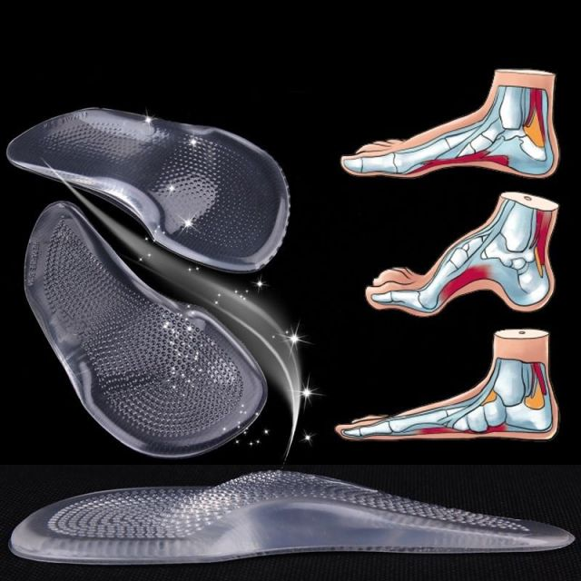 1 Pair High Heels Gel Arch Orthopedic  Support Shoe Inserts Insole