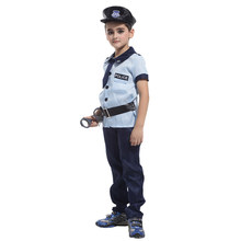 Kids Child Police Policeman Costume for Boys Little Cop Cosplay Uniform Halloween New Year Carnival Mardi Gras Party Outfit chlidren s policeman cosplay costume policeman costume with durable case police officer costume for kids
