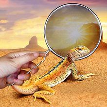 Рептилия песок Лопата Сито Фильтр из нержавеющей стали Совок Pet Чехол для чистки животных