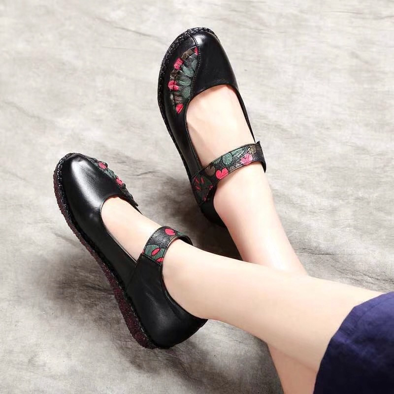 35 Cuir Sexemara Doux En Purple Pourpre Femmes Véritable De Appartements Color Photo Rouge 41 Dames Confortable Rétro photo Red Noir Respirant Printemps Taille Chaussures Black photo TttAqwrpz