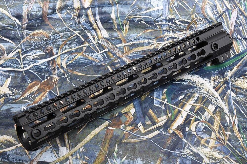 Ar 15 Tactical Picatinny Keymod Rail Handguard System Super Lightweight 7075 Aluminum Alloy Cutting M9870