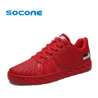 Socone 새로운 도착 남성 스케이트 보드 신발 남성 레이스 업 야외 스포츠 운동화 클래식 경량 운동화 zapatillas