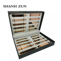 SHANH ZUN Personalized Custom 20pcs Top Quality Stainless Steel Collar Stays Bones Stiffeners Rose Gold for Dress Shirts