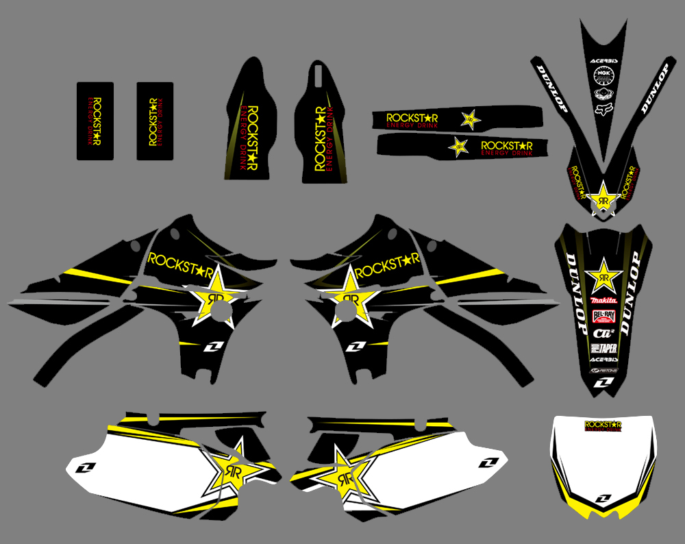 Motorcycle New Style Graphics Background Decal Sticker Kit For Yamaha YZ450F YZF450 YZ 450F YZF 450