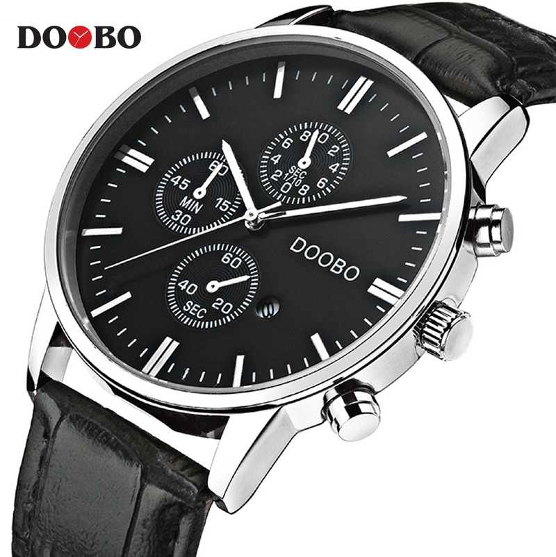 DOOBO Quartz Watch Mens Watches Top Brand Luxury Fashion Casual Clock Men Sport Waterproof Leather Wristwatch relogio masculino купальник женский animal ilsa bikini beige brown blue