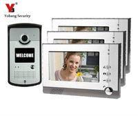 Yobang Security 7inch LCD video door phone door camera Night Vision Doorbell Home Security porteros electricos con camaras