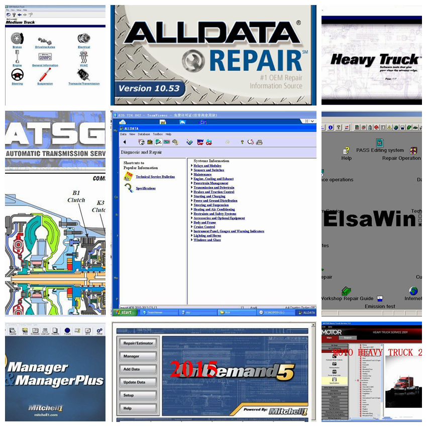 Alldata Software auto repair software alldata and mitchell software mitchell ondemand 2015 vivid workshop data in 1tb hdd usb3.0 стоимость