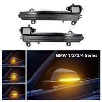 2PCS LED Rearview Mirror Indicator Blinker Repeater Light Dynamic Turn Signal Light For BMW 1 2 3 4 5 6 7 series X1 E84 GT
