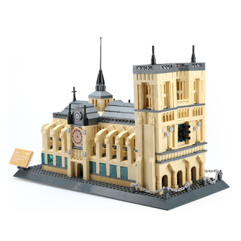 World Architecture Notre-dame Cathedral Of Paris 1380Pcs Building Blocks sets educational toys for children Compatible With Toys
