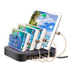4 Port USB Desktop Charger Universal Mobile Phone Charging Station Dock For Multiple Devices