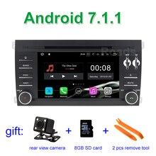 7.1.1 2 Din Android Coches Reproductor de DVD para Porsche Cayenne 2003 2004 2005 2006 2007 2008 2009 2010 con WiFi GPS Radio 2 GB RAM
