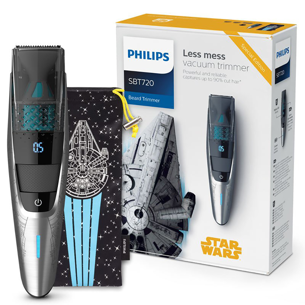 цена на Philips Star Wars Special Edition Vacuum Beard Trimmer SBT720/15 with Full Metal Blades 0.5mm Precision Settings Easy to use
