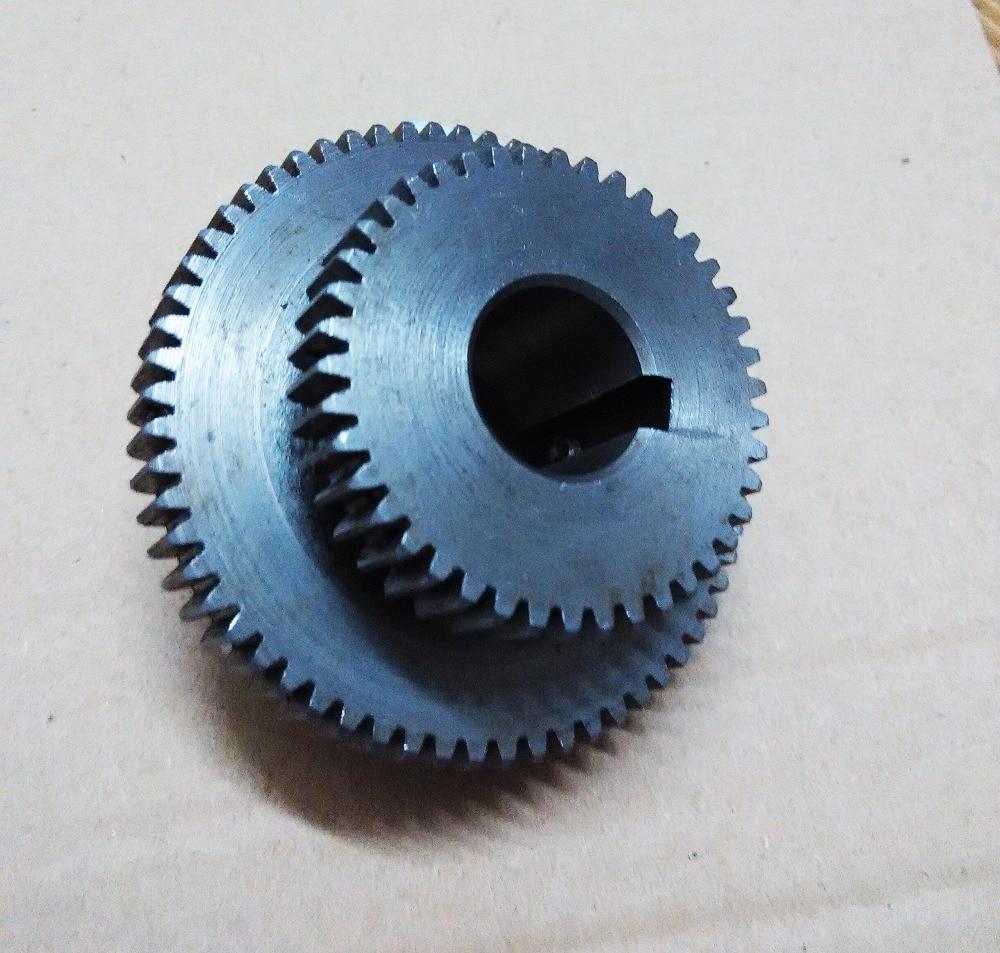 1pcs set Metal mini milling Machine duplicate gears Z42 Z62 teeth duplex gears for milling machine