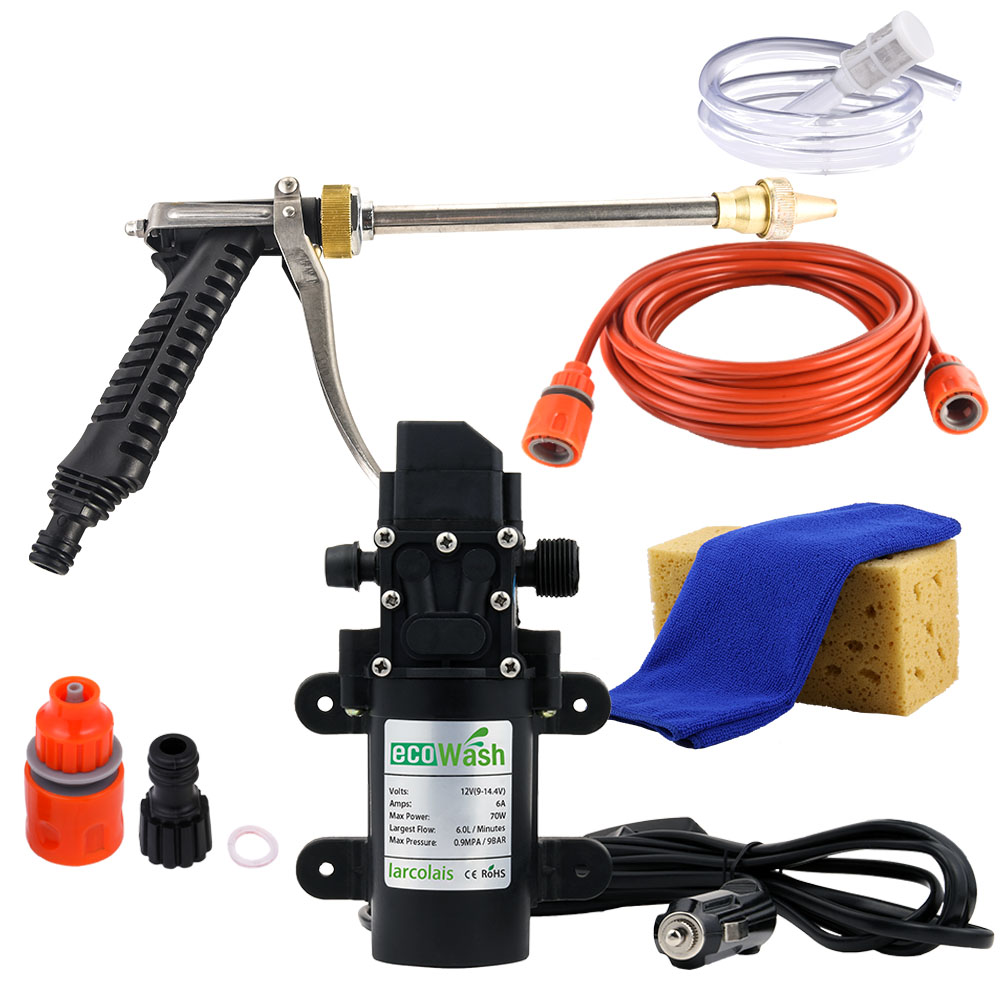 Car Washer 12V Gun Pump High Pressure Cleaner Car Care Portable Washing Machine Electric Cleaning Auto