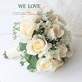 Красивая Свадьба Букет Невесты Невесты Свадебный Букет Искусственный Цветок Розы Букет Белый Свадебные Букеты
