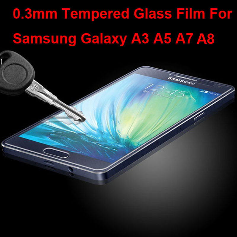 New Explosion Proof Tempered Glass Protective Film Screen Protector For Samsung Galaxy A3 A5 A7 A8