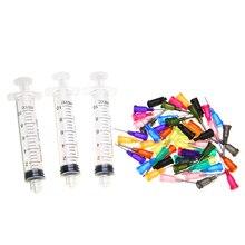 10CC Дозирующий Шприц SMT PCB SMD паяльная паста клей Дозатор жидкого мыла+ дозирующие иглы