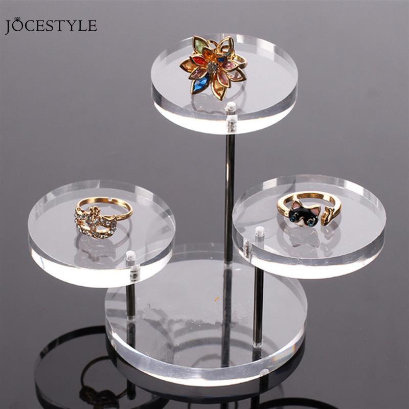 3 Tray Acrylic Jewelry Display Boxes Bracelet Holder Necklace Rack Showcase Watch Display Stand Clear Acrylic Jewelry Organizer