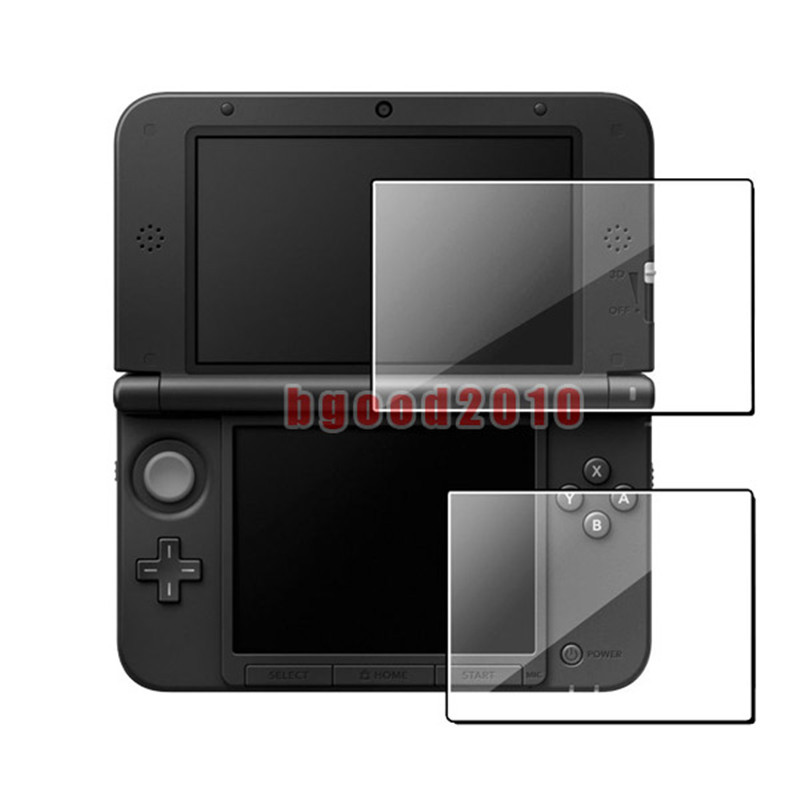 2018 New-Promotion Hot Sale Clear Top + Bottom Screen Protectors  LCD Screen Film For 3DS XL LL