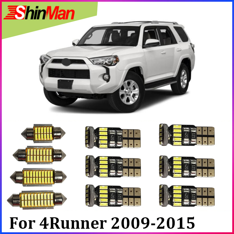 ShinMan 15x Map Dome Trunk Car led interior Car lighting For <font><b>Toyota</b></font> <font><b>4Runner</b></font> LED Interior light kit 2009-<font><b>2015</b></font> LED CAR Light image